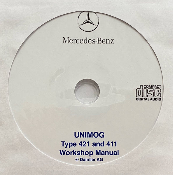 1966-1989 Mercedes-Benz UNIMOG Type 421 and 411 Workshop Manual