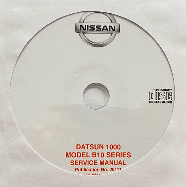 1966-1969 Datsun 1000 Model B10 Series Workshop Manual