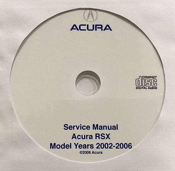 2002-2006 Acura RSX Workshop Manual