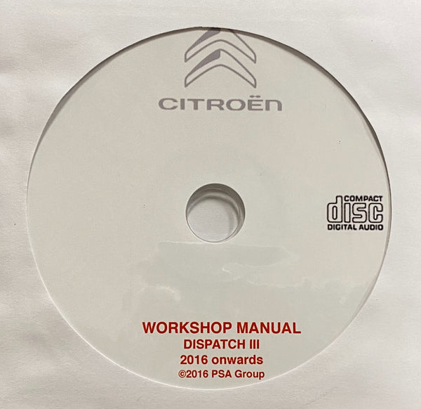2016 onwards Citroen Dispatch III Workshop Manual
