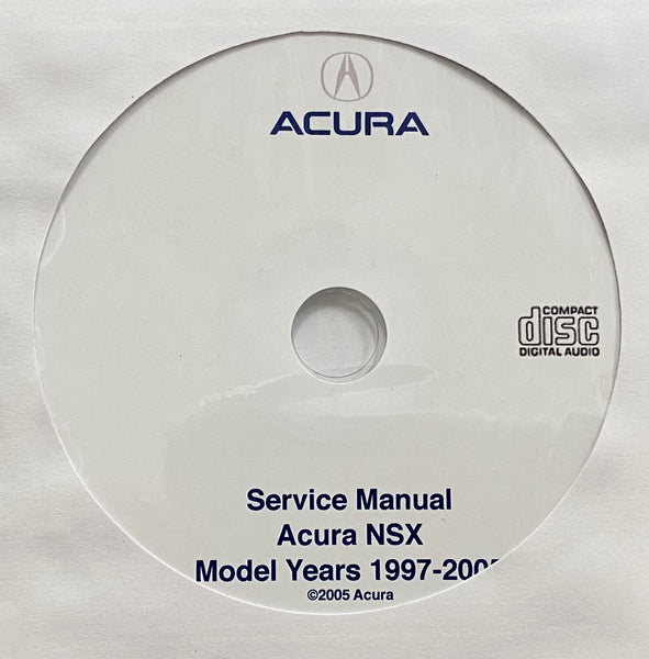 1997-2005 Acura NSX USA/Canada Workshop Manual
