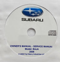 2006 Subaru Baja USA/Canada Owner's Manual and Workshop Manual