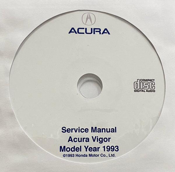 1993 Acura Vigor USA/Canada Workshop Manual
