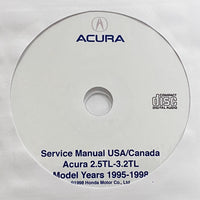 1995-1998 Acura 2.5TL and 3.2TL USA/Canada Workshop Manual