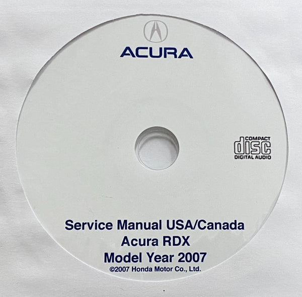 2007 Acura RDX USA/Canada Workshop Manual