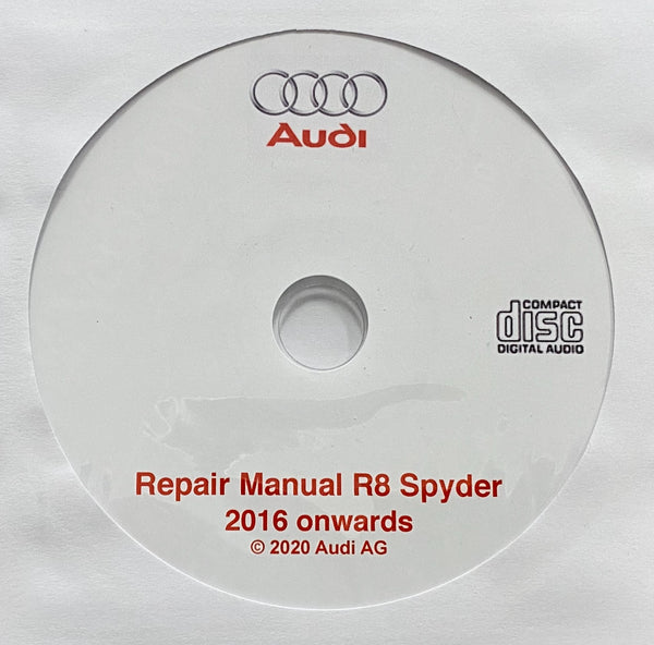 2016 onwards Audi R8 Spyder Workshop Manual