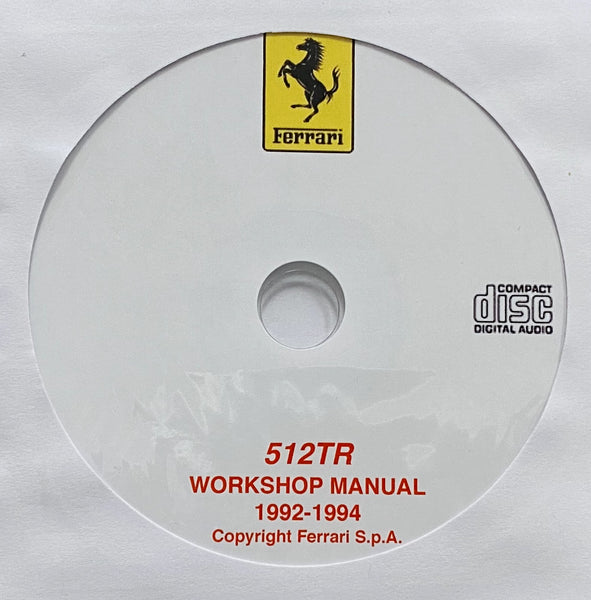 1992-1994 Ferrari 512TR Workshop Manual