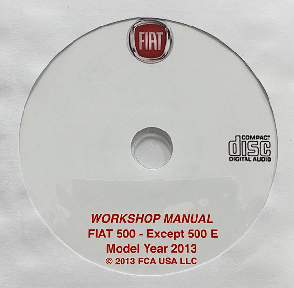 2013 Fiat 500 (except 500 E) USA Workshop Manual
