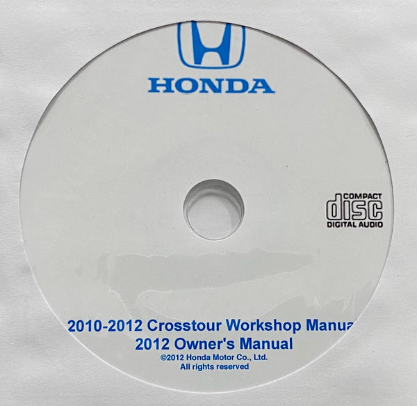 2010-2012 Honda Crosstour USA Owner's Manual and Workshop Manual