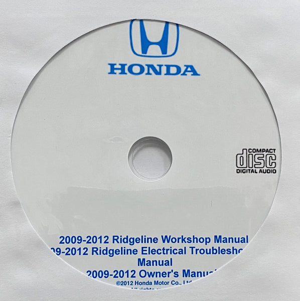 2009-2012 Honda Ridgeline USA Owner's Manual, Workshop Manual and ETM
