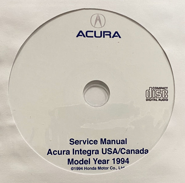 1994 Acura Integra USA/Canada Workshop Manual