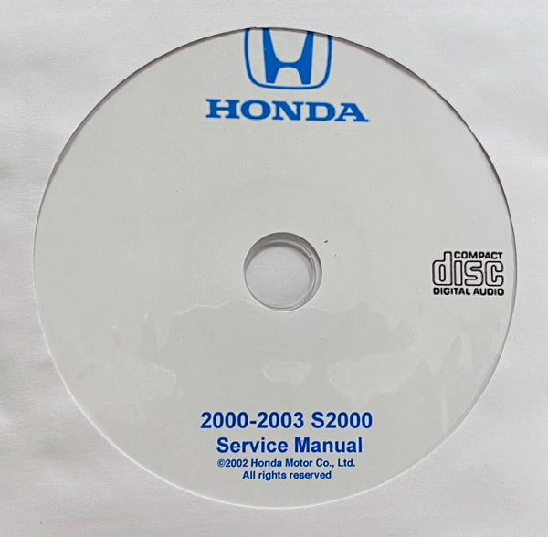 2000-2003 Honda S2000 USA/Canada Workshop Manual