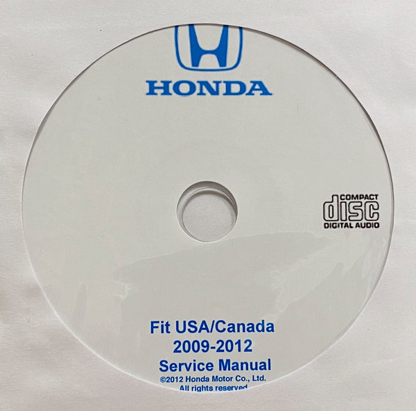 2009-2012 Honda Fit USA/Canada Workshop Manual