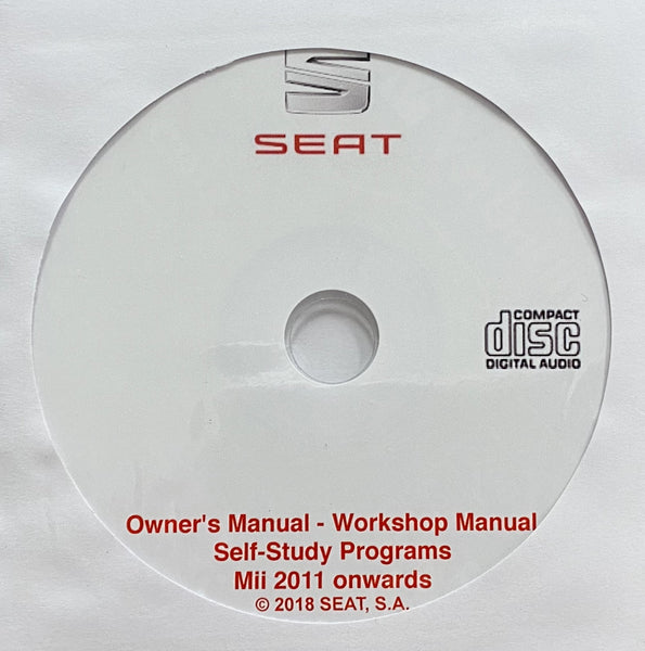 2011 onwards Seat Mii Owner's Manual and Workshop Manual