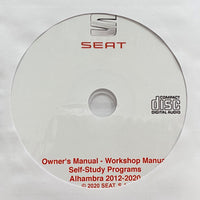2012-2020 Seat Alhambra Owner's Manual and Workshop Manual