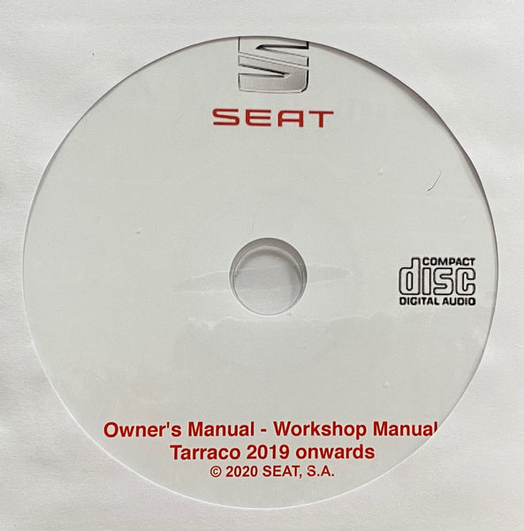 2019 onwards Seat Tarraco Owner's Manual and Workshop Manuals