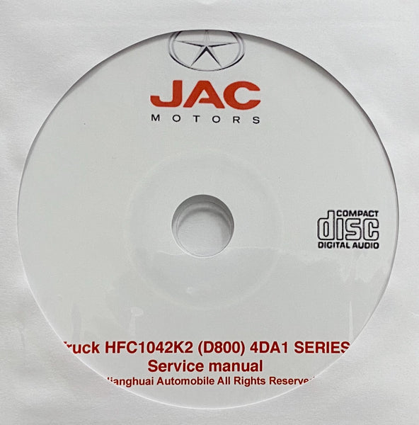 JAC Truck HFC1042K2 (D800) 4DA1 Workshop Manual