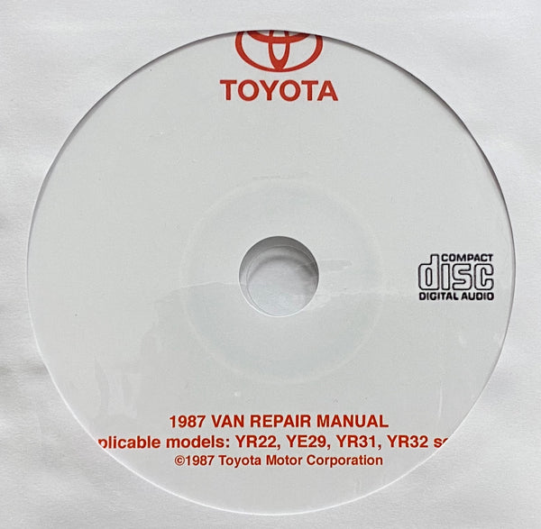 1987 Toyota VAN USA/Canada Workshop Manual