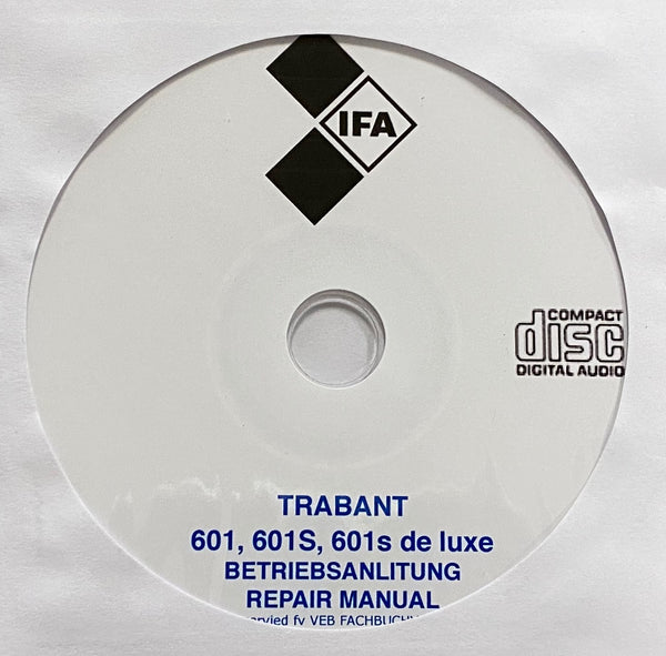 1964-1990 IFA Trabant 601, 601S and 601S de luxe User and Repair Manual