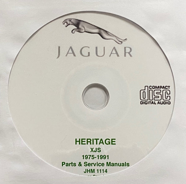 1975-1991 Jaguar XJS Parts Catalogue and Workshop Manual