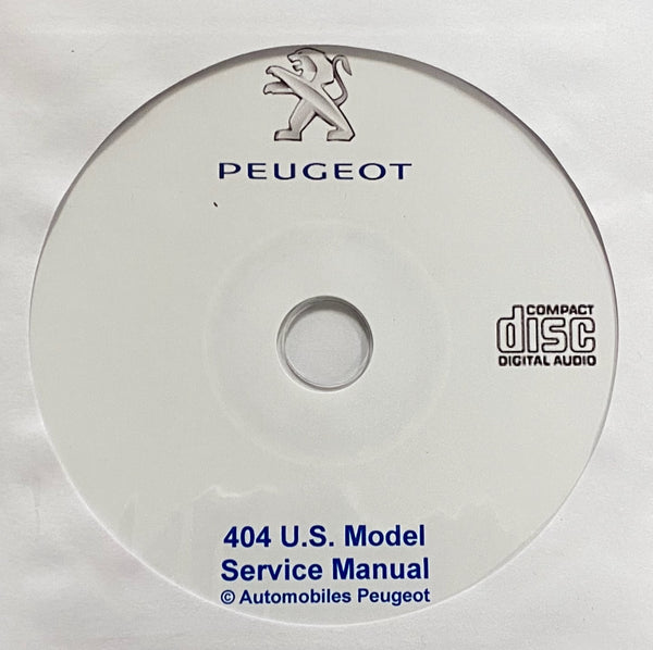 1961-1965 Peugeot 404 US Model Workshop Manual