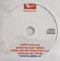 1981-1986 Daihatsu Hijet Model S65 USA Parts Catalog