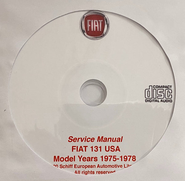 1975-1978 Fiat 131 USA Models Workshop Manual