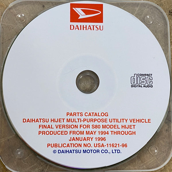1994-1996 Daihatsu Hijet S80 USA Models Parts Catalog