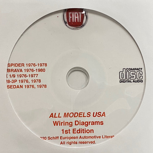 1976-1980 Fiat All Models USA Wiring Diagrams