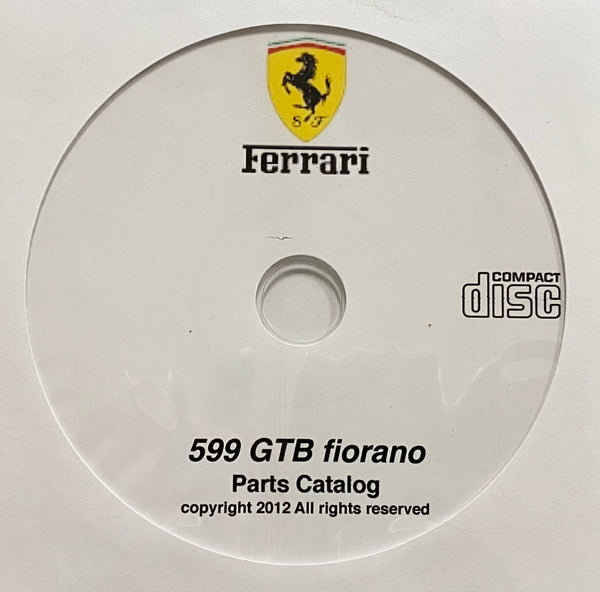 2006-2012 Ferrari 599 GTB fiorano Parts Catalog
