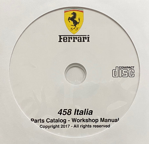 2010-2015 Ferrari 458 Italia Parts Catalog and Workshop Manual