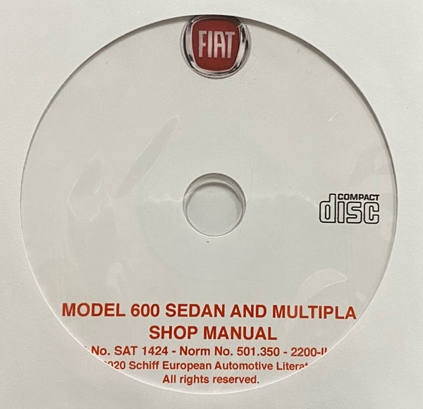 1955-1969 Fiat Model 600 Sedan and Multipla Workshop Manual