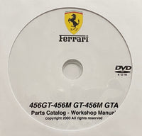 1992-2003 Ferrari 456GT, 456M GT and 456M GTA Parts Catalog and Workshop Manual