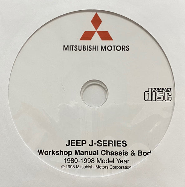 1980-1998 Mitsubishi Jeep J-Series Chassis & Body Workshop Manual