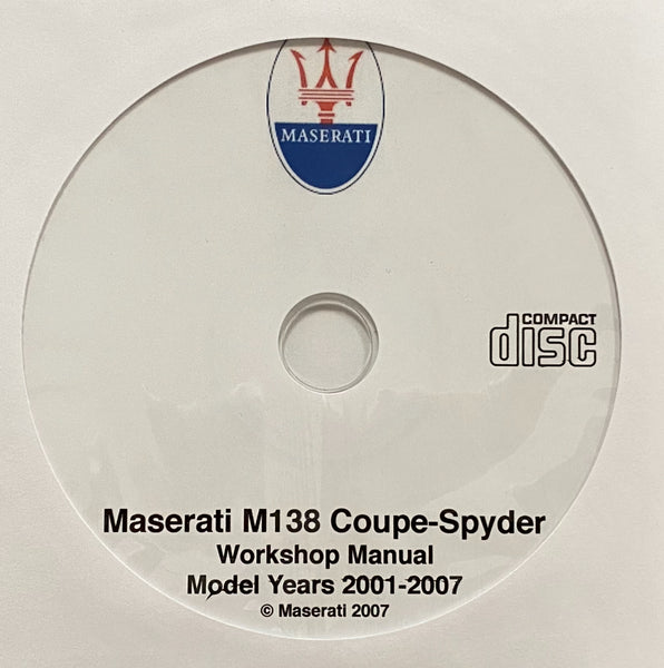 2001-2007 Maserati M138 Coupe and Spyder Workshop Manual