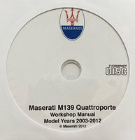 2003-2012 Maserati Quattroporte M139 Workshop Manual