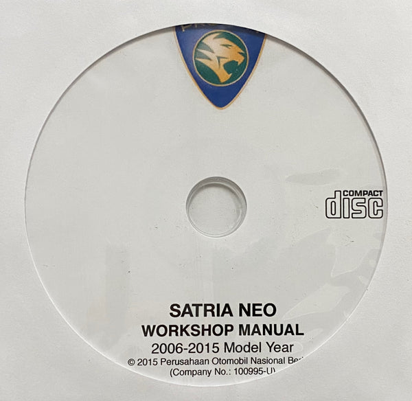 2006-2015 Proton Satria Neo Workshop Manual