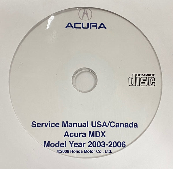 2003-2006 Acura MDX USA/Canada Service Manual