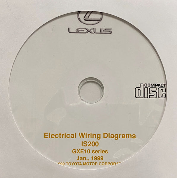 1999 Lexus IS200 GXE10 series Electrical Wiring Diagrams