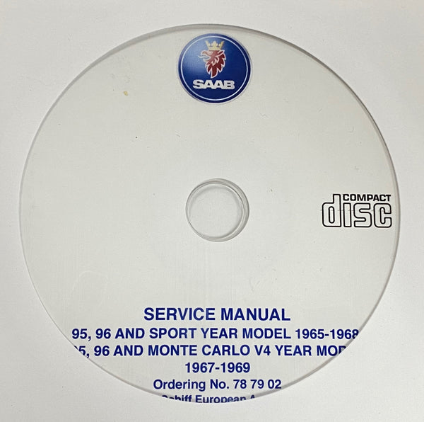 1965-1969 Saab 95, 96, Sport and Monte Carlo 3 Stroke/V4 Service Manual
