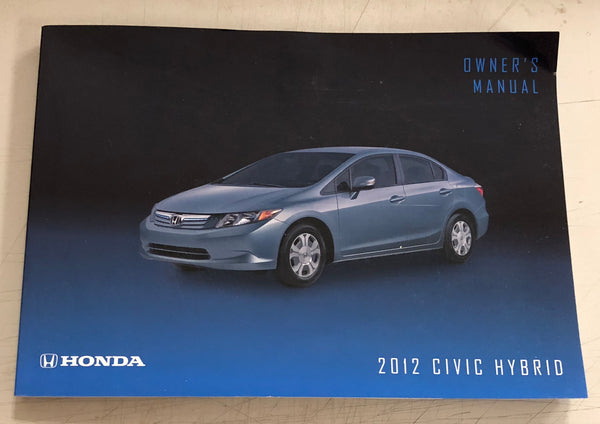 2012 HONDA CIVIC HYBRID Owner's Manual