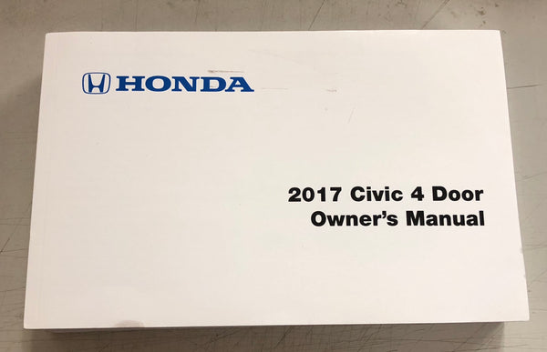 2017 HONDA CIVIC 4 DOOR Owner's Manual