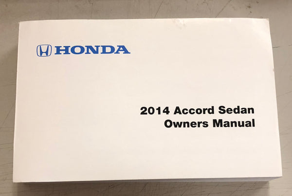 2014 HONDA ACCORD SEDAN Owner's Manual