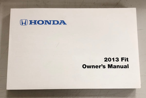 2013 HONDA FIT Owner's Manual