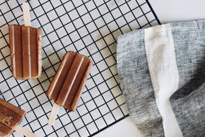 Creamy Peanut Butter Banana Fudgsicles