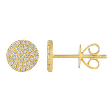 Medium Diamond Disk Studs