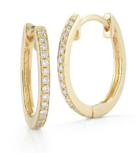 Hestia Jewels Petite Diamond Hoop Earrings
