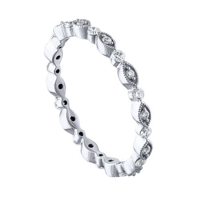'Marquise & Round' Eternity Band