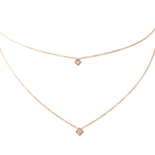 LexiMazz 14k Gold Signature Motif Two in One Choker