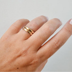 Glamrocks 14k Yellow Gold Filled Thick Band Ring